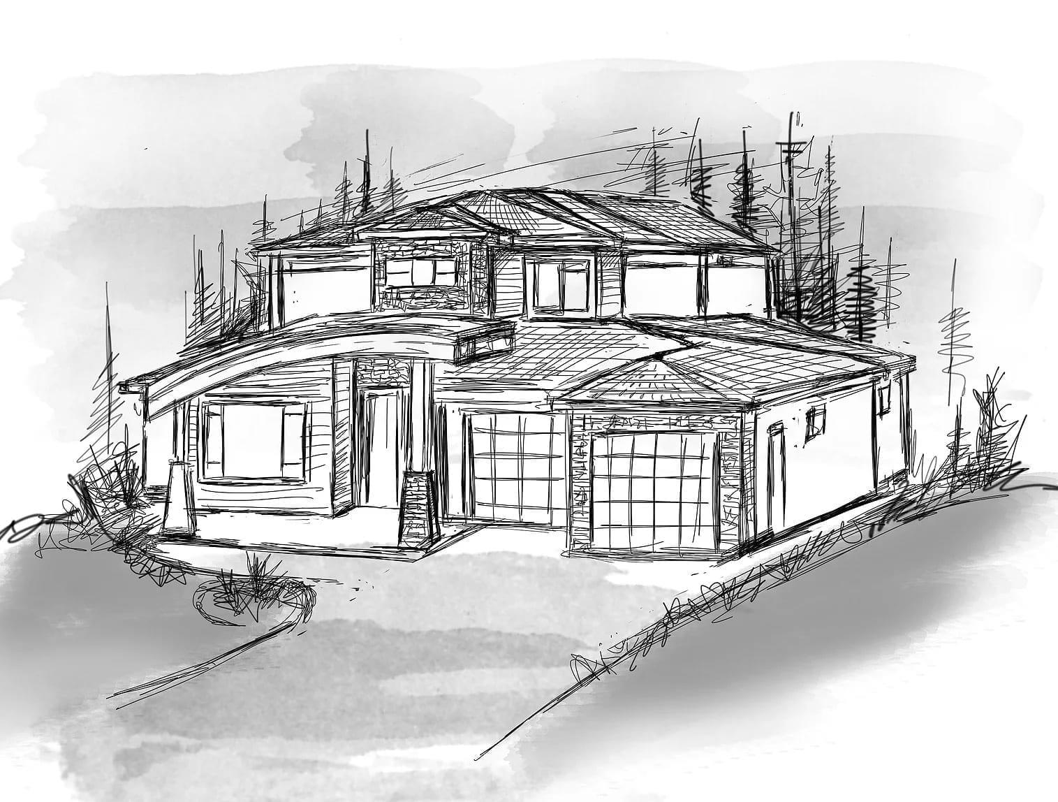 Modern Fawn Run Exterior built by Impact Builders