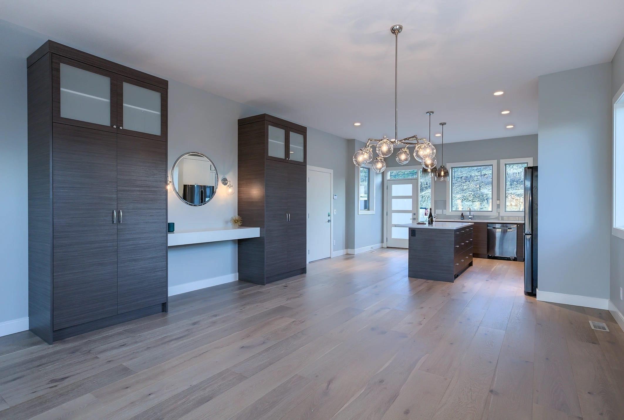 Dunbar Villas contemporary living room, built by Impact Builders